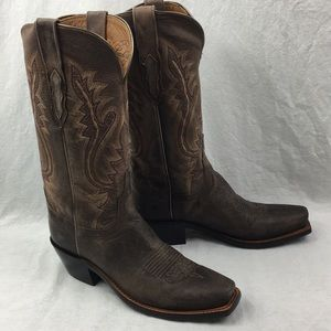 New Lucky Leather Western Boots with Heels NWT